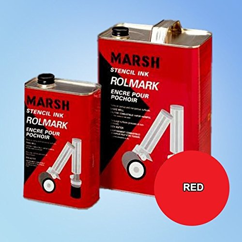 Price comparison product image Marsh Rolmark Red Ink - Gallon