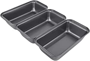 MANO Carbon Steel Loaf Pan Nonstick Rectangular Baking Pans Long Bread Toast Mold Cake Bakeware Set