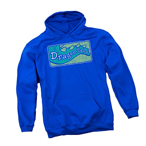 Distressed TV Show Logo -- Dragon Tales Adult Hoodie Sweatshirt