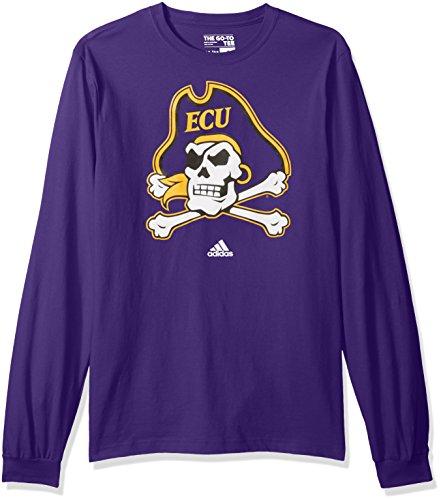 NCAA East Carolina Pirates Adult men School Logo L/S (Ecu Pirates)