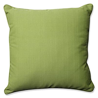 "Pillow Perfect Outdoor/Indoor Forsyth Floor Pillow, 25"", Solid, Kiwi/Green - Includes one (1) outdoor floor pillow, resists weather and fading in sunlight; suitable for indoor and outdoor use Plush Fill - 100-percent polyester fiber filling Edges of outdoor pillows are trimmed with matching fabric and cord to sit perfectly on your outdoor patio furniture - patio, outdoor-throw-pillows, outdoor-decor - 51Qi6RiwJVL. SS400  -"