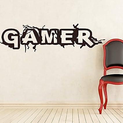 Hilai Sticker Mural décoratif Stickers muraux Gamer pour Les Chambres,  Salons, Décoration d\'intérieur, Salle de Bain ou de Cuisine Tout Surface  Lisse ...