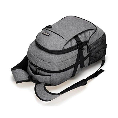 Mochila de los hombres de moda simple de gran capacidad de la computadora bolsa de viaje
