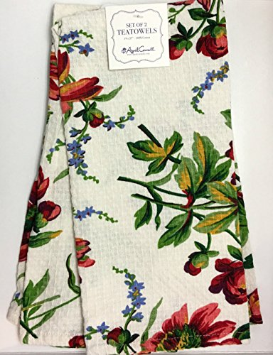 April Cornell French Country Spring Summer Cottage Tea Towels | Set of 2 | 100% Cotton