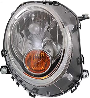 Mini Headlight Assembly Halogen with Yellow Turn Signal Right OEM AL