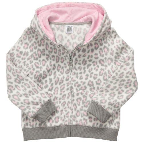 Carter's Infant Fleece Zip Hoodie - Leopard Print-18 Months