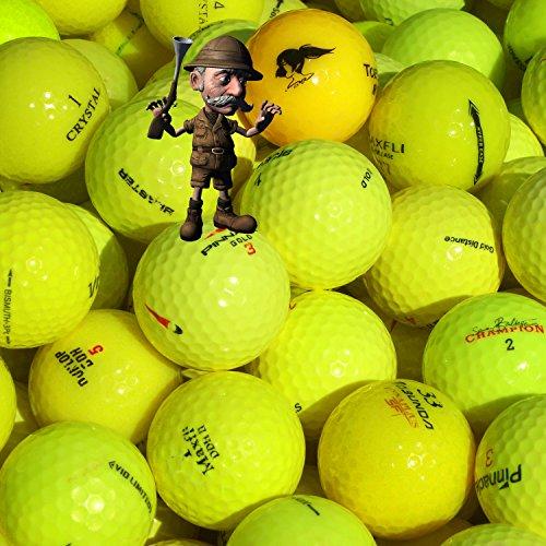 golf ball hunter - gebrauchte Markenmix Golfbälle Lakeballs AAA-AA Qualität (Gelb, 50)