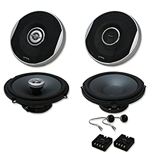 """Infinity Primus Package 6.5 inch 2-way Car audio caoxial speakers & 6.5"""" Component system"""