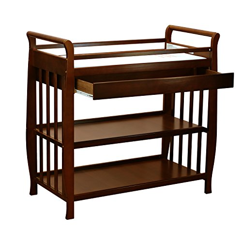 Metal Sleigh Crib (Athena Nadia Baby Changing Table, Espresso)