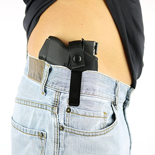 ComfortTac Concealed Carry Holster | Carry Inside The Waistband IWB or Outside The Waistband OWB | Size 3 Fits Glock 26, 27, 43, M&P Shield 9mm.40.45 Auto, Ruger LC9, LC380, and Similar Guns