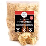 Fire Starter Tumbleweed 36 Nuggets Get Your Charcoal Fire Going Indoors/Outdoors Ideal For Barbeque Grills (Kamado, Green Egg), Pit Smokers, Wood Stoves, Campfires, Fireplaces| Eco-Friendly