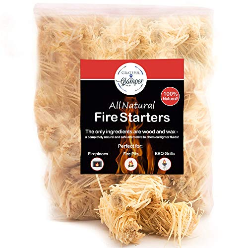 Fire Starter Tumbleweed 36 Nuggets Get Your Charcoal Fire Going Indoors/Outdoors Ideal For Barbeque Grills (Kamado, Green Egg), Pit Smokers, Wood Stoves, Campfires, Fireplaces| Eco-Friendly (In Starting Fireplace Fire)