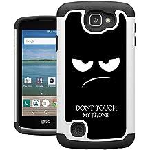 LG Optimus Zone 3 Case, K4 Case, Spree Case, UrSpeedtekLive [Shock Absorption] Dual Hybrid Defender Cover Case for LG K4 LTE/Spree/Optimus Zone 3/Rebel LTE - Don't Touch