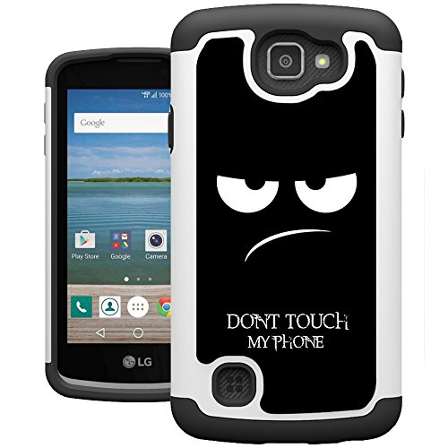 LG Optimus Zone 3 Case, K4 Case, Spree Case, UrSpeedtekLive [Shock Absorption] Dual Hybrid Defender Cover Case for LG K4 LTE / Spree / Optimus Zone 3 / Rebel LTE - Don't Touch (Lg Phone Case Optimus compare prices)