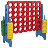 ECR4Kids Jumbo 4-To-Score Oversized Game for Kids and Adults, Primary