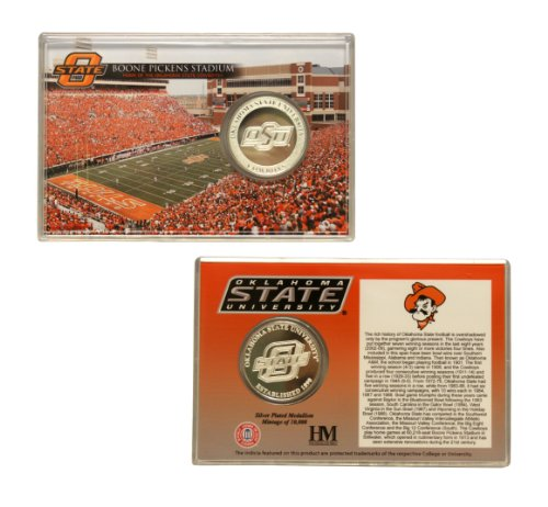 Oklahoma State Cowboys Silver Coin Card - (Color Team Mint Coin)