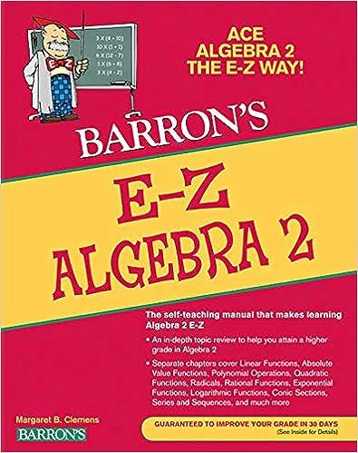 E-Z Algebra 2 (Barron's E-Z Series): Meg Clemens, Glenn