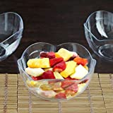Efavormart 60 Pieces 6oz Clear Plastic Floral Round Disposable Dessert Salad Bowl For Wedding Banquet Event