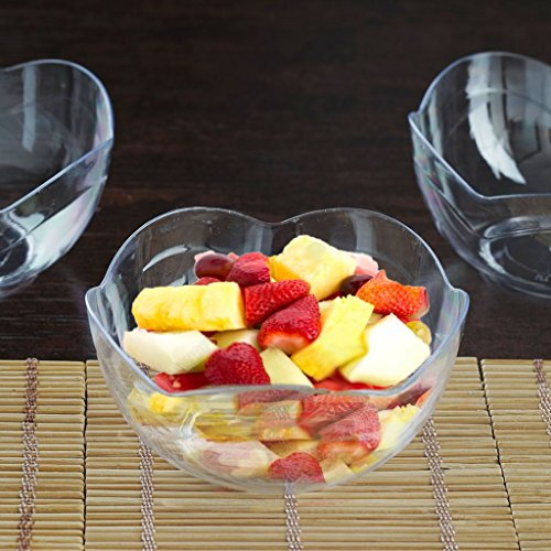 Efavormart 60 Pieces 6oz Clear Plastic Floral Round Disposable Dessert Salad Bowl For Wedding Banquet Event by Efavormart.com