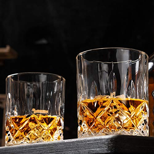 KANARS Double Old Fashioned Whiskey Glasses With Luxury Gift Box - Rocks Barware For Scotch, Bourbon and Cocktail Drinks - Set of 4 by KANARS (Image #5)