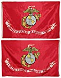 3×5 U.S. Marines Marine Corps USMC Heavy Duty Solarmax Nylon 210D Doublesided Flag 3'x5′ Banner Gift Set Review
