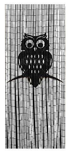 Wenko 819112500 Bambusvorhang Eule, Bambus, mehrfarbig, 200 x 90 x 0.2 cm