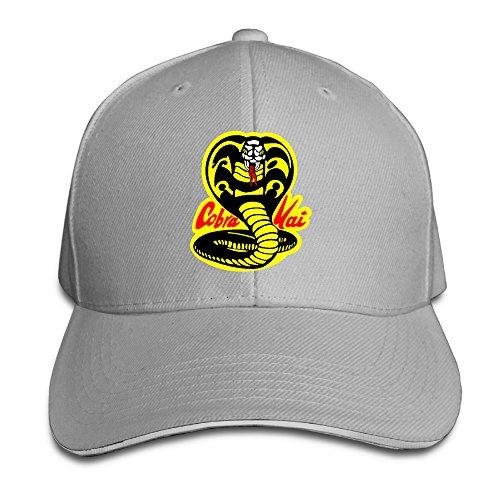 RABBEAT Karate Kid Cobra Logo Outdoor Cross-country Cotton Hats Adjustable (Cobra Cross Costume)