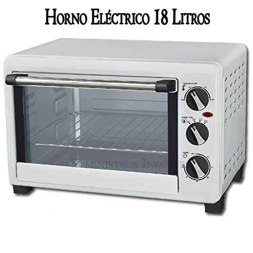 Suinga Horno ELECTRICO 1200W 18 litros, Acero Inoxidable, Blanco ...