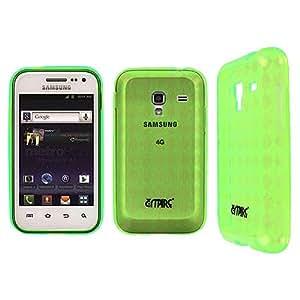 Green S Shape Flex Case Cover for Samsung Galaxy Admire 4G SCH-R820