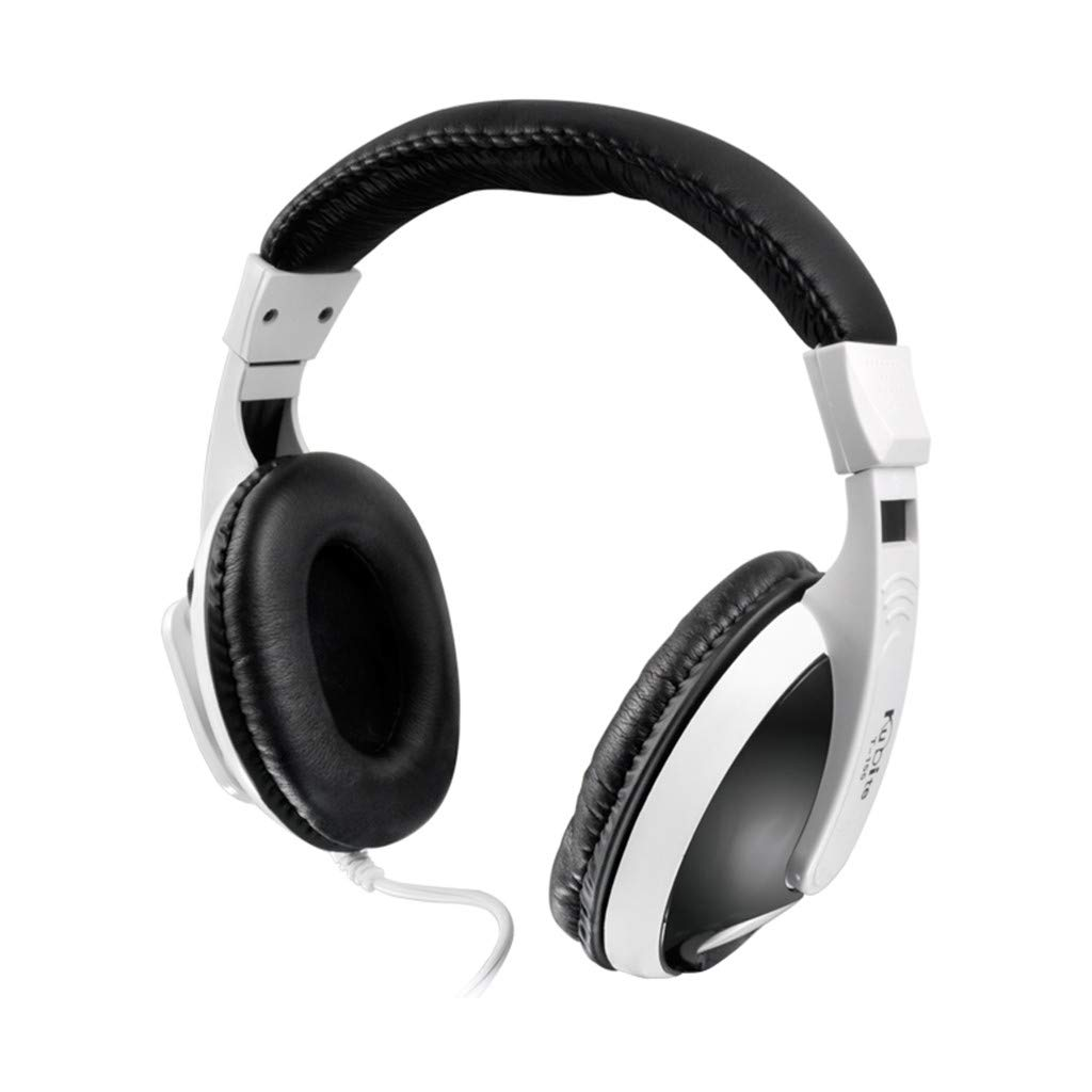 Sonmer Kubite T155 3.5mm Wired Noise Cancelling Stereo Foldable Over Ear Gaming Headphone With Mic,for MP3/MP4 iPhone Android Smartphone Tablet PC (White)