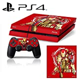 [PS4] Iron Man 3 Whole Body VINYL SKIN STICKER DECAL COVER for PS4 Playstation 4 System Console and Controllers