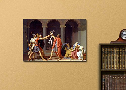 Oath of The Horatii by Jacques Louis David Print Famous Painting Reproduction