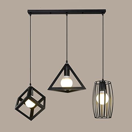 Lampadari in ferro creativi, 3 luci Nordic Illuminazione a LED ...