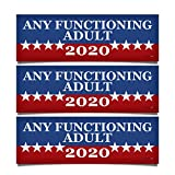 Blue Moon Graphics Any Functioning Adult 2020 Magnet Magnetic Bumper Sticker 9x3