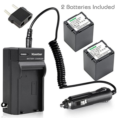 Cta Camera Battery (Kastar Battery X2 + Charger for Panasonic CGA-DU21 NV-GS40 GS44 GS47 GS50 GS55 GS57 GS58 PV-GS150 GS180 GS200 GS300 GS320 GS400 GS500 SDR-H250 H280 VDR-D258 D300 D308 D310 D400 VDR-M74 M75 M95 M250)