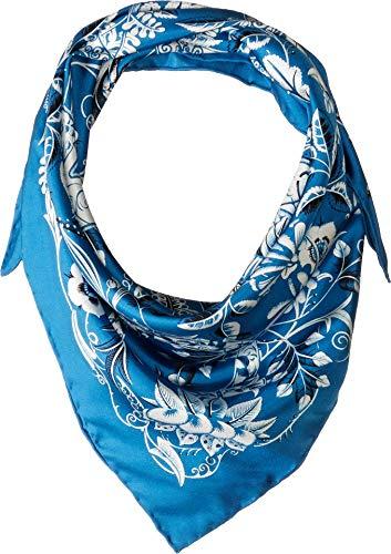 Salvatore Ferragamo Women's Silk Tapestry Scarf F. Azure One Size