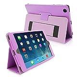 iPad Mini & Mini 2 Case, Snugg™ - Smart Cover with Flip Stand & Lifetime Guarantee (Purple Leather) for Apple iPad Mini & Mini 2 with Retina