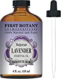 Image of First Botany Cosmeceuticals Bulgarian Lavender Essential Oil with a Glass Dropper, 4 oz