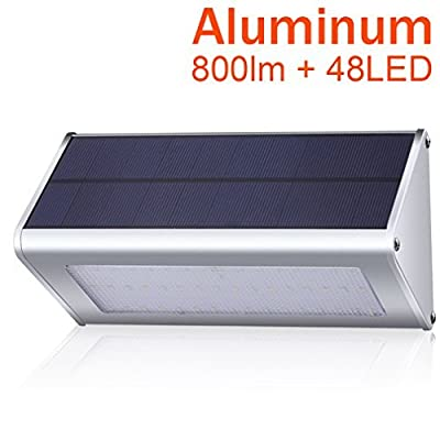 800 Lumen Solar Lights Outdoor, Bensnail Radar 48 LED Motion Sensor Light for Security with Weatherproof and Waterproof Stainless Aluminum Alloy Housing (3rd Version For 2017 - 1 Pack)
