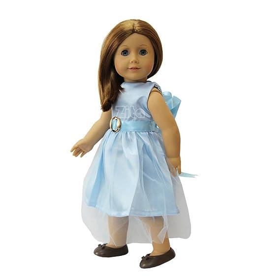 Amazon.es: ZITA ELEMENT Vestido de Fiesta para Muñeca Americana chica de 18 Pulgadas y Otras Muñecas de 45-46 cm: Juguetes y juegos