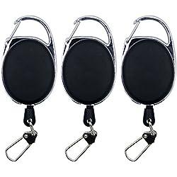 SAMSFX Fly Fishing Retractor Zinger Tool Retractable Reel Gear Tether Badge Holder