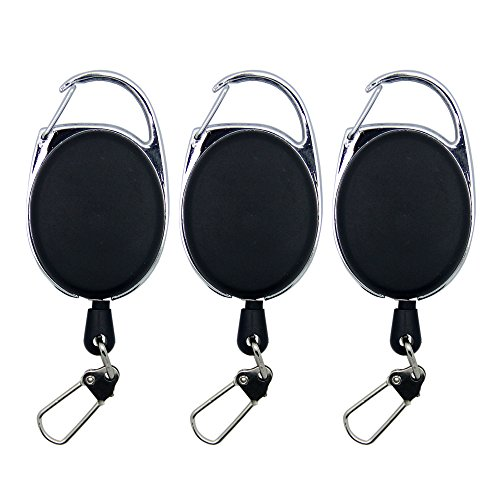SAMSFX Fly Fishing Retractor Zinger Tool Retractable Reel Gear Tether Badge - Fishing Lanyard