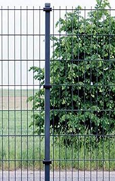 OuM 20 St/ück U-B/ügelset f/ür 40x50mm Pfosten zur Zaunbesfestigung