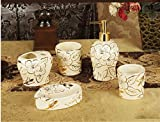 GTVERNH-Recipients Of Gifts Ceramic Bath 5 Piece Set Bathroom With Toiletries Kit Marriage Toiletries