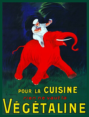 "24""x36"" Quality Poster.Riding the red elephant of luck.Chef"