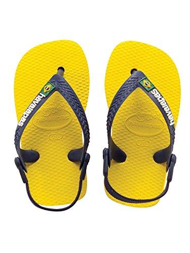 8e2d1884c286 Baby Havaianas Brasil Logo Citrus Yellow Flip Flops Sandals  Amazon.co.uk   Shoes   Bags