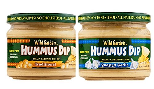 All Natural Hummus Dip Assortment, 2 - 10.74 Oz Jar Pack (Traditional & Roasted Garlic) by YANKEETRADERS