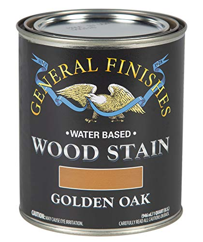 General Finishes WGQT Water Based Wood Stain, 1 Quart, Golden Oak ()