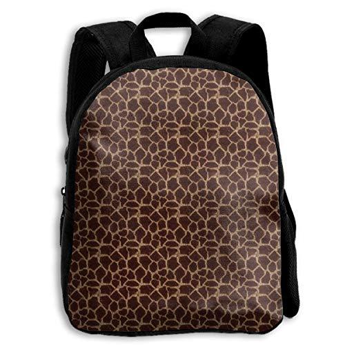 DKFDS Backpacks School Season Kids Backpack Travel Gear Daypack,Child Giraffe Brown Print Shoulder -