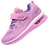 JARLIF Kids Athletic Tennis Running Shoes Breathable Sport Air Gym Jogging Sneakers for Boys & Girls (4 M US Big Kid,Pink)